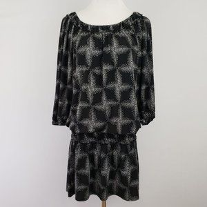 Max Studio Star Patterned Dress Size Extra Small